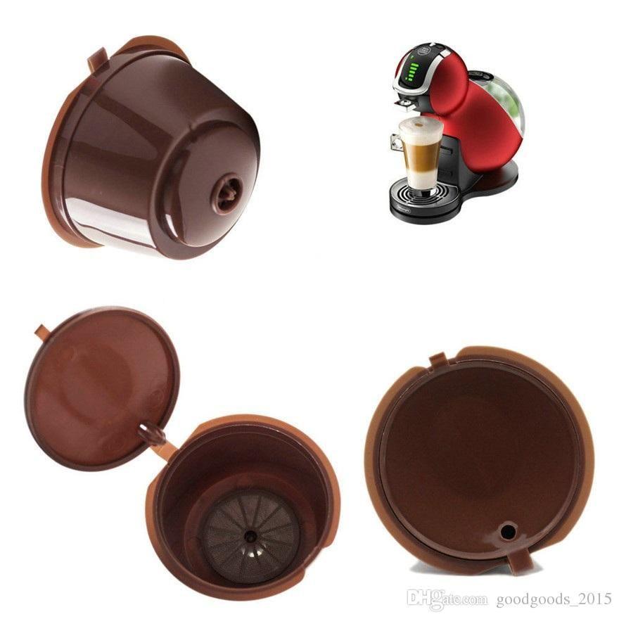 Coffee Capsule مع 1 قطعة بلاستيكية ملعقة قهوة إعادة الملء كابكس 200 أضعاف قابلة لإعادة الاستخدام متوافق ل Nescafe دولتشي غوستو C475