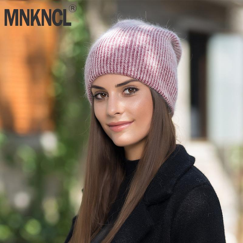 2018 New Women Hat For Autumn Winter Knitted Cashmere Beanies Fashion Hats Arrival Casual Caps Good Quality Female Hat D18110601