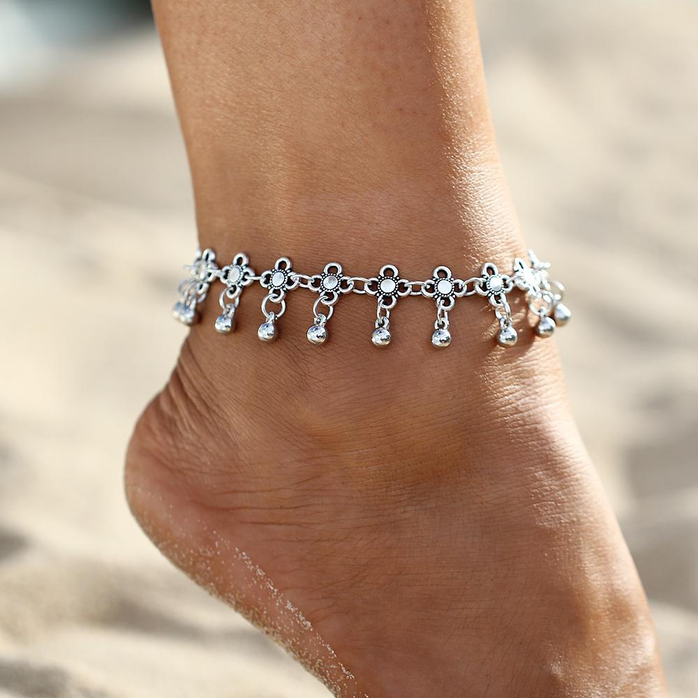 IF-ME-Boho-Bohemia-Alloy-Chain-Link-Anklet-Flower-Pendant-Summer-Beach-Ankles-Foot-Bracelet-New