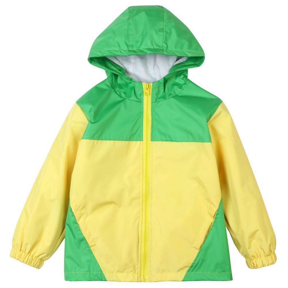 Europa y estadounidense Chaqueta de los niños a prueba de viento a prueba de viento y a prueba de agua, chaqueta impermeable con cremallera con capucha