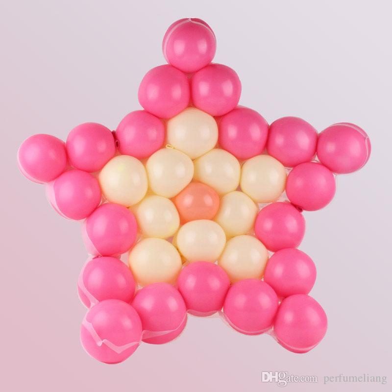 Cinq pointu étoile forme maille parti ballons grilles de mariage fête d'anniversaire fond décoration murale livraison gratuite ZA6970