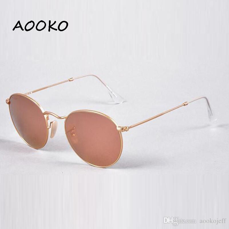 Venda quente Clássico Rodada 3447 Óculos De Sol para Homens mulheres óculos de sol Unisex Óculos Masculino Oculos Para Escolher com casos de brwon