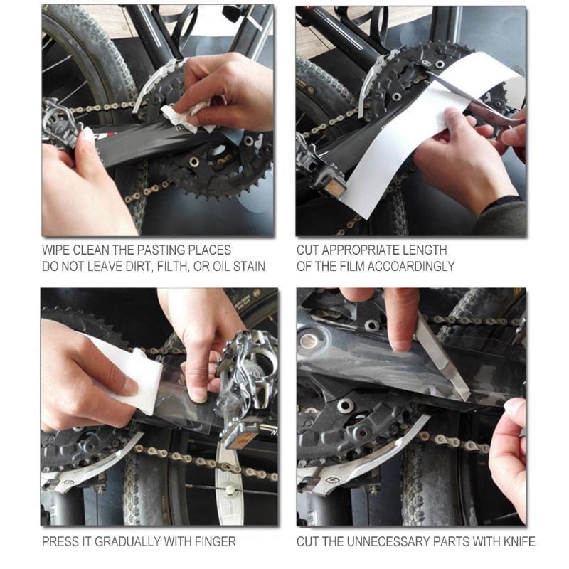 MTB Mountain Bike Rahmen Aufkleber Transparent Fahrrad Lackschutzfolie