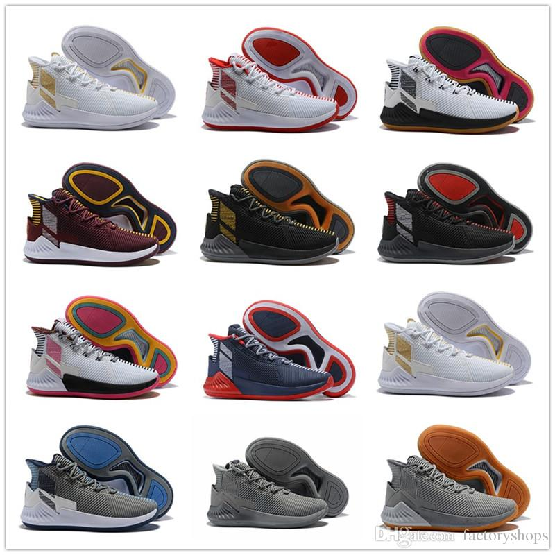 ever popular stable quality for whole family 2018 D Rose 9 White Gold Men'S Basketball Shoes Man Top Quality Derrick  Rose Shoes 9 Sports Sneakers Designer Shoes Size 40 46 Discount Shoes  Online ...