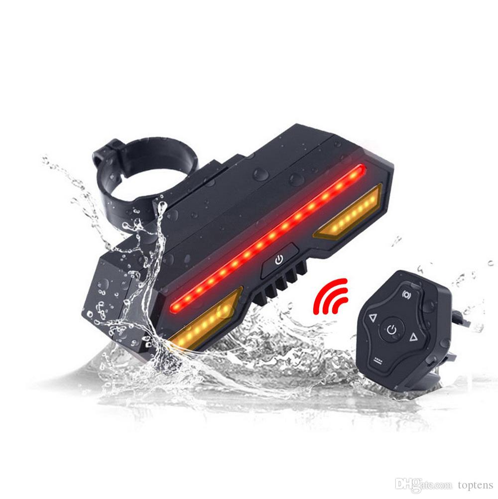 Akıllı Bisiklet Kuyruk Işık Kablosuz Uzaktan Kumanda Dönüş Sinyalleri USB Şarj Edilebilir LED Bisiklet Dönüş Işıkları Dağ Yol Bisikleti