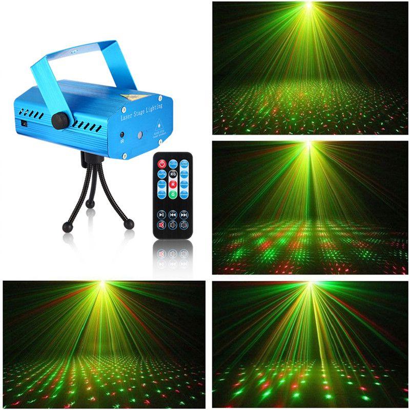 Litake Mini Luz Do Estágio LEVOU Projetor Laser Vermelho Verde Estrela ativado por Voz Auto Flash FDA Certificated para Club Disco Bar DJ Party