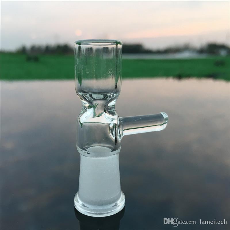 Pyrex Glass Oil Burner Glass Bong Adapter Ground Female Accesorios para fumar Tazón con Mango Bar para Tubería de Agua