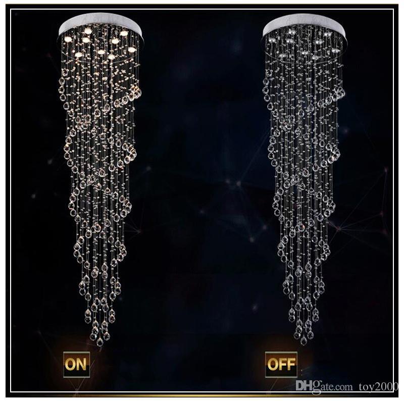 araña de cristal lámpara colgante espiral luz de cristal colgante K9 araña de cristal lámpara LED suspensión iluminación hotel lobby lounge con04