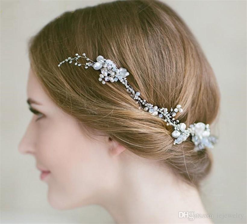 Bridal Wedding Tiara With Tiara Box Headband Crystal Pearls