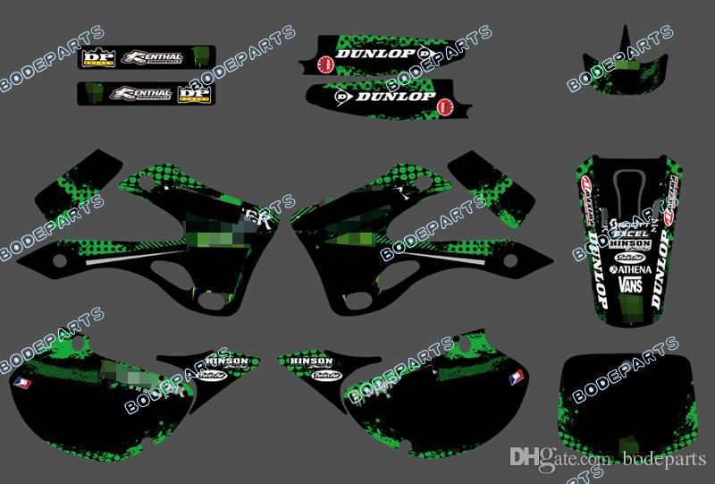 Monstor Motor KX125 KX250 Decal Graphics Sticker Design for Racing Motorcycle KAWASAKI KX 125 KX 250 1999 2000 2001 2002