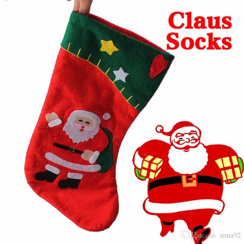 Рождественские чулки Навидад Санта-Клаус чулок конфеты сумки для рождественские украшения Новый Год продукт дети подарки бесплатная доставка горячая