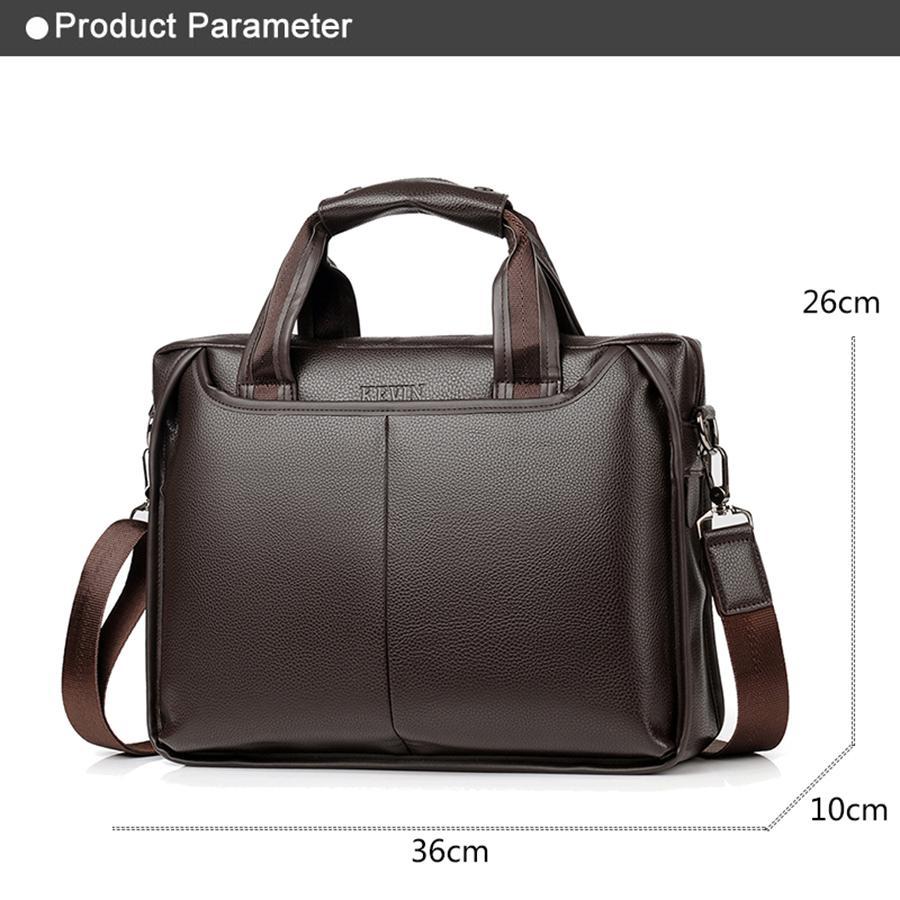 Men Leather Briefcase Shoulder Bag Casual Business Handbag Tote Messenger 2018