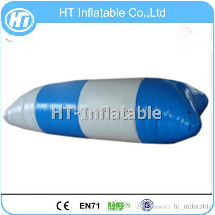 Freies Verschiffen 8x3m hochwertiger aufblasbarer Wasserkatapult-Klecks / Wasser-Klecks / Wassertrampoline für Verkauf geben eine Pumpe frei