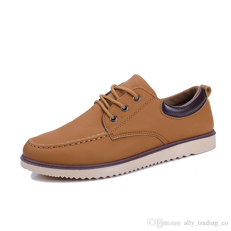 2018 nuovi uomini in pelle scarpe da guida fatte a mano, nuovo business, scarpe in pelle casual, mocassini in pelle di design di marca per gli uomini taglia 39-44