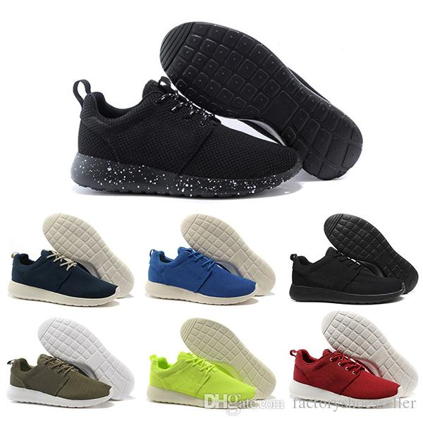 Nike roshe one running shoes mayor hombres mujeres zapatos casuales London Olympic Ros negro rojo blanco gris azul zapatillas de deporte casuales zapatos Eur 36-45