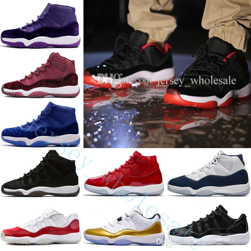 2018 New Gym Red GS Midnight Navy 11 XI Basketball Shoes For Men,Olive Green 11s Sneakers Basket ball Mens Trainers Sports Shoes US 5.5-13