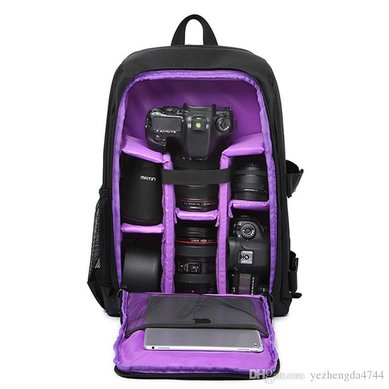 Waterproof Digital DSLR Camera Video Bag High Quality SLR Camera Backpack Multi-color PE Padded for Photographer Hot Sale