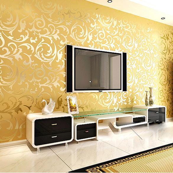 KALAMENG Рулоны Papel De Parede Посыпать Золотыми Фресками Дамасской Бумаги Современные Стерео 3D обои декор для гостиной Обои