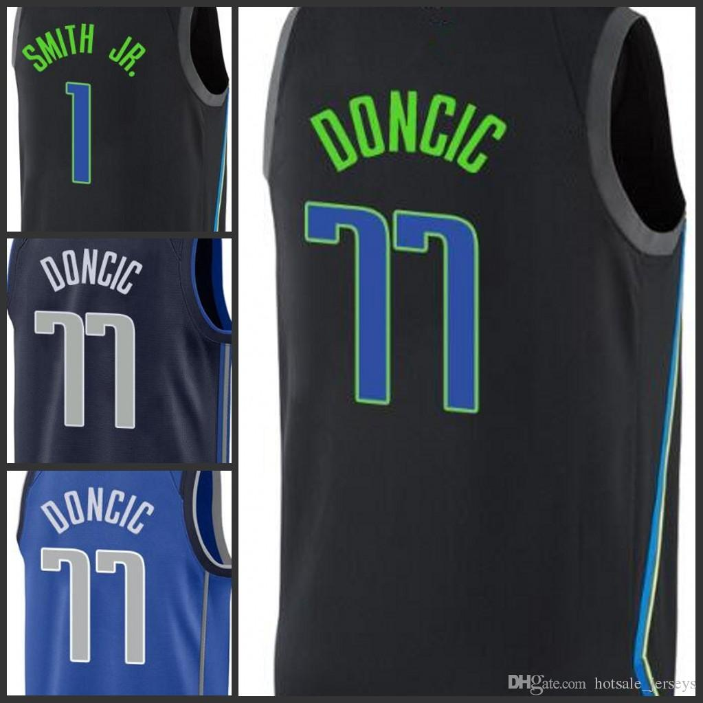 the latest d6179 436cd 2018 2018 2019 New 77 Luka Doncic Jersey Dallas Mens Mavericks 1 Smith Jr.  Fans Edition The City Basketball Jerseys From Sportsjerseyes, &Price; | ...