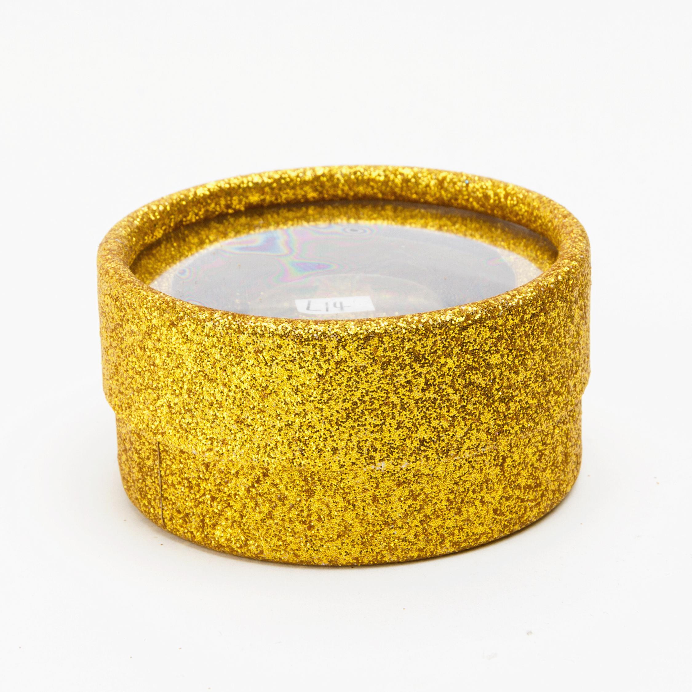 L'imballaggio del cliente della scatola del ciglio di scintillio di carta del ciglio dell'oro di scintillio dell'oro include 3 opzioni di colore Contenitore di carta rotondo Trasporto libero