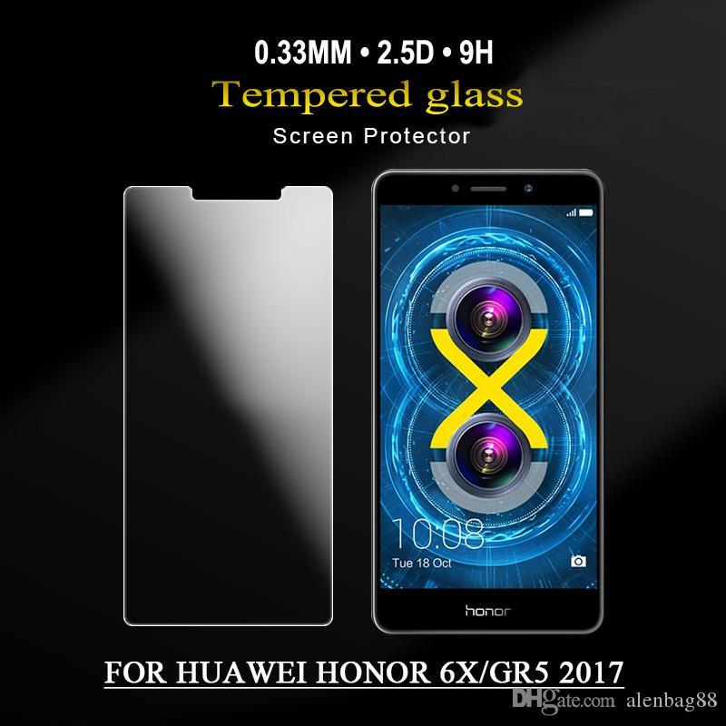 Protecteur d'écran de téléphone portable de 0.26MM 2.5D pour le protecteur d'écran en verre de HUAWEI honor5C avec l'emballage de retial