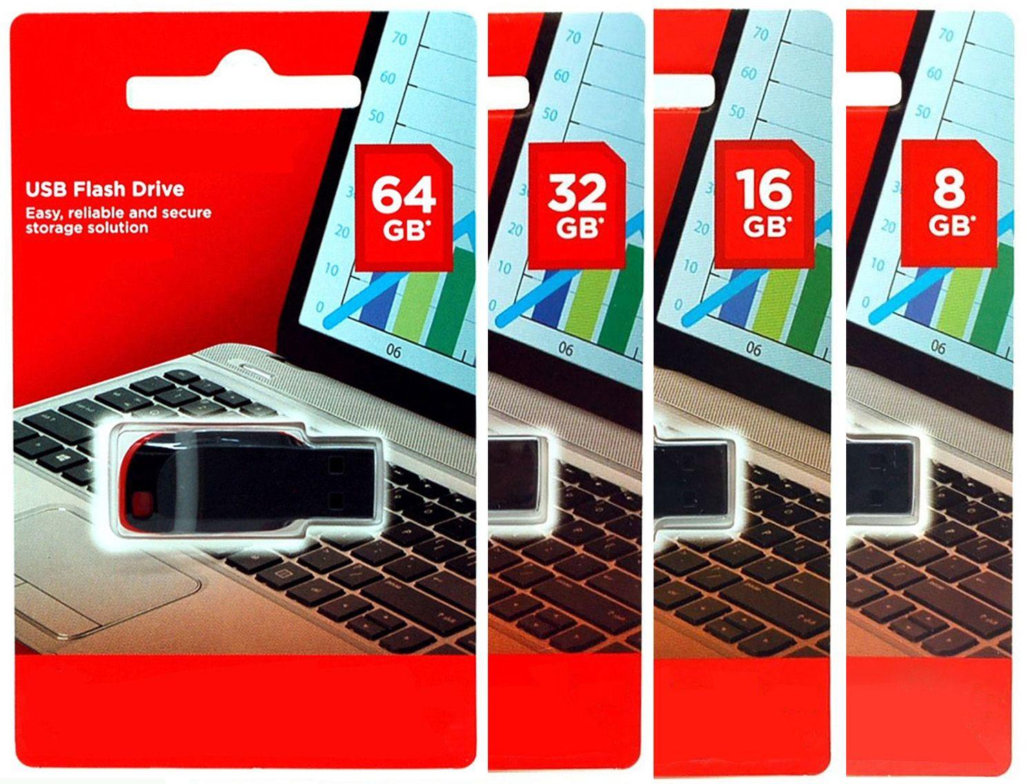 100% Capacidad real Unidades Flash USB 4GB 8GB 16GB 32GB 64GB USB 2.0 Memory Sticks Plastic U Disk Memory Stick High Speed