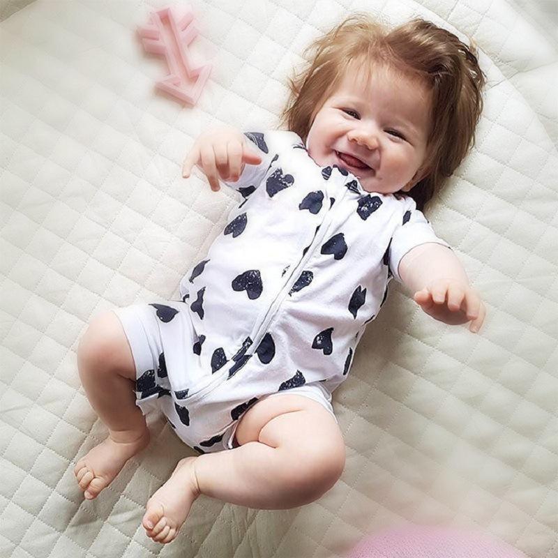 Ropa de bebé Algodón Mamelucos del bebé En forma de corazón de manga corta Ropa de bebé recién nacido Niños Niños Niñas Verano Mono