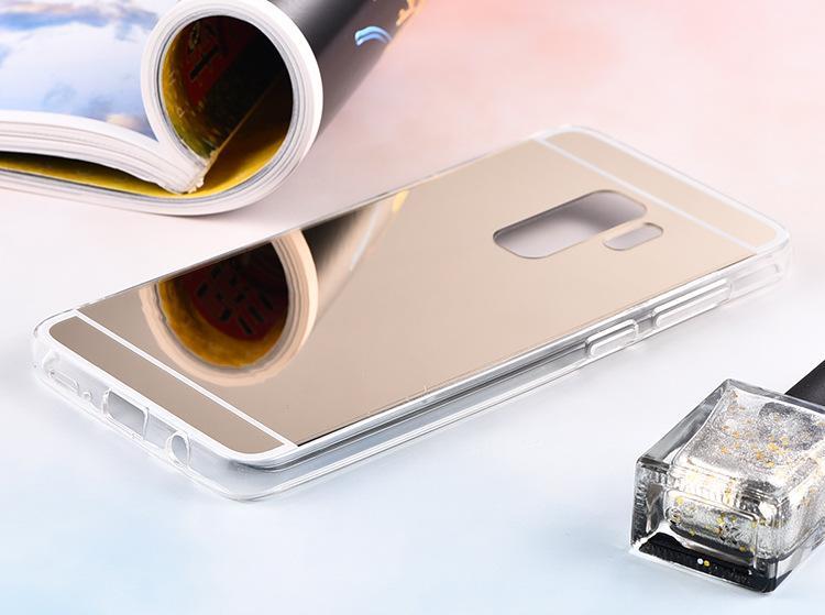 Espejo Estuche Galvanoplastia Cromo Suave Cubierta de la caja de TPU PARA IPHONE X XR XS XS MAX 5s se 6 6S MÁS 7 8 MÁS S6 S6 BORDE S7 S7 BORDE 100 unids / lote