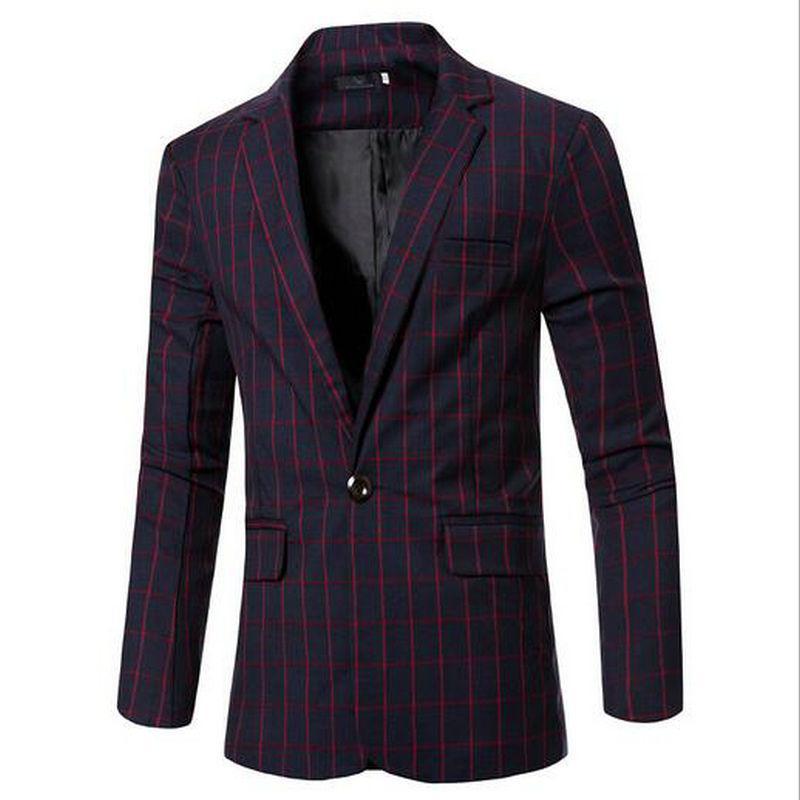 2016 Nouveaux Hommes Blazer Costumes De Mode Pour Hommes Top Bestsellers Costume À Carreaux Grande Taille Casual Costume Veste Manteau Vêtements MC03