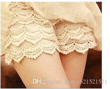 Pantaloncini corti di sicurezza a vita alta con pantaloncini in pizzo a vita alta e design a vita alta, taglia unica SMLXL Beige Nero 2 colori