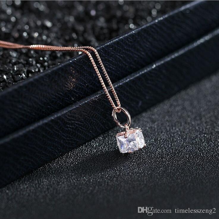 """Elegante Collar Colgante de Cristal Cadena Clavicular de Mujeres """"Cristal de Amor"""" Collar Cumpleaños Bonito Regalo Regalo Gratis"""