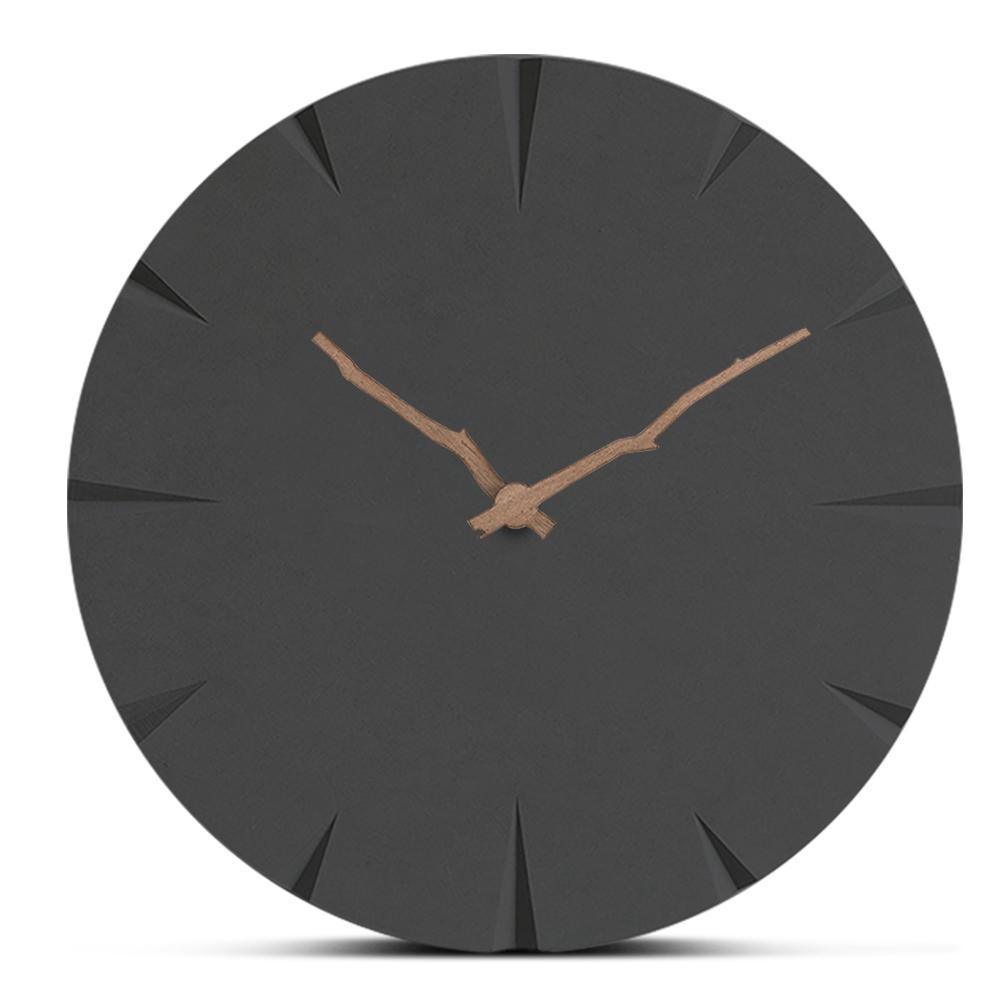 Europa Relógio De Parede De Madeira Moderna Minimalista Sala de estar Pendurado Relógios de Cabeceira Artesanal Relógio De Madeira Mudo Home Decor Relógio Criativo