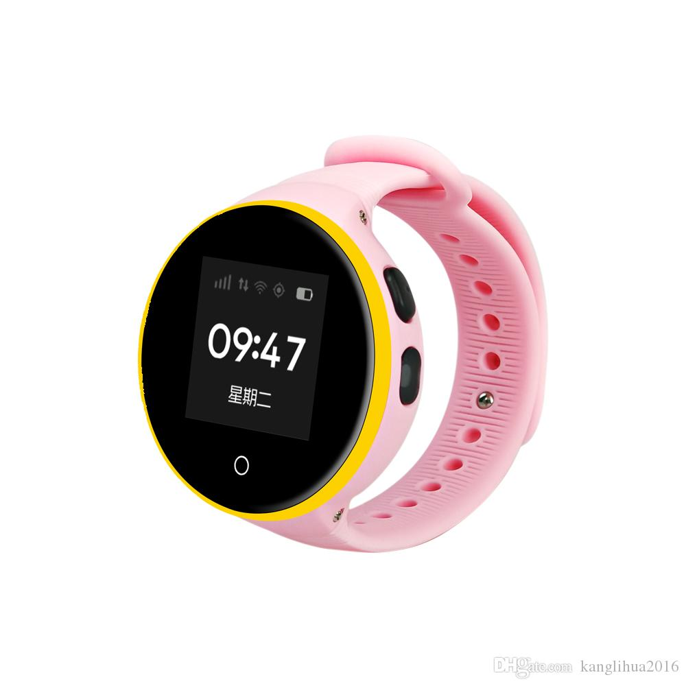 S668A kids Waterproof Round Screen Android Wristwatch Pedometer SOS Remote Monitoring For Kid Old Man Smart Phone Watch free DHL