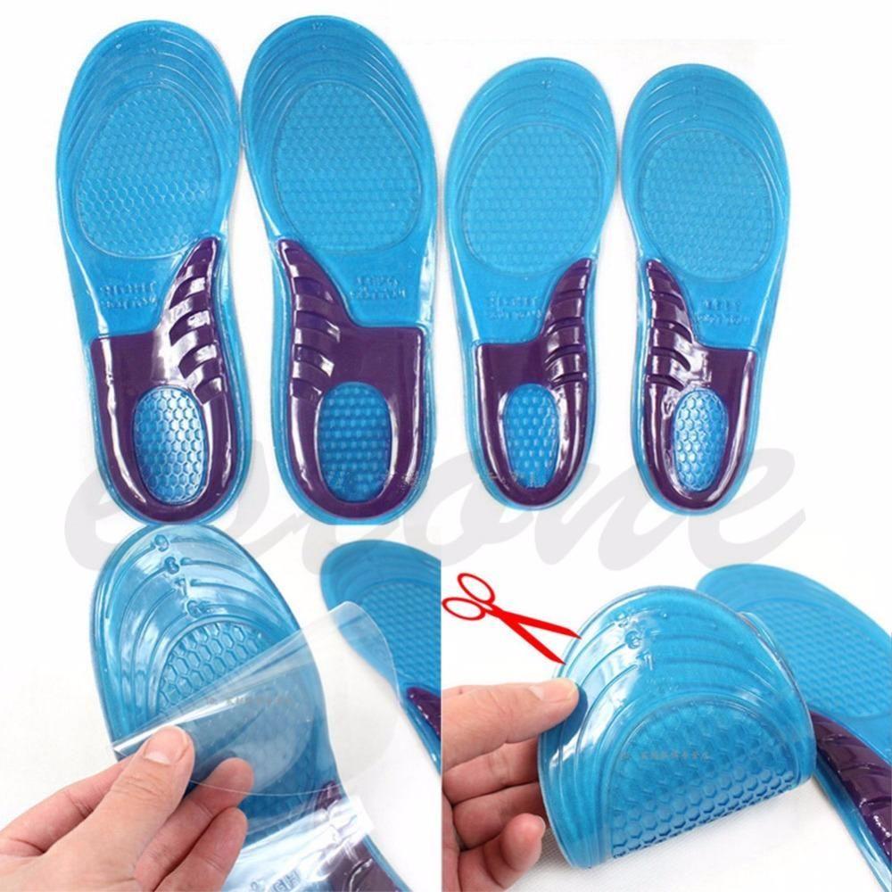 THINKTHENDO горячие новые женщины силиконовый гель ортопедические арочной Крепи массаж спортивной обуви стельки запустить площадку