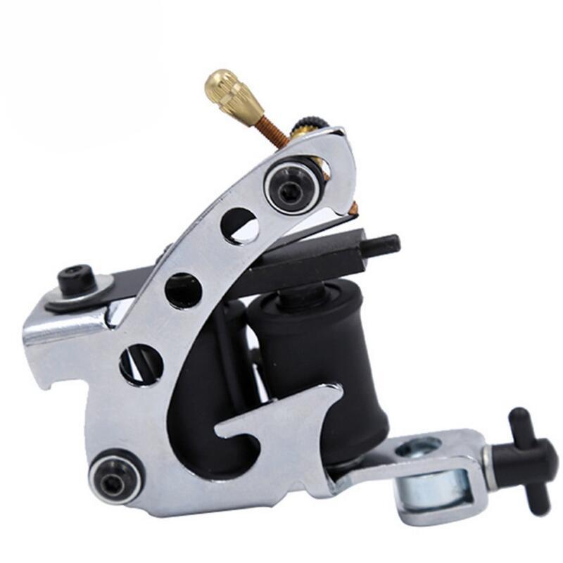 10 랩 코일 영구 문신 기계 쉐이더 라이너 탄소강 로타리 모듬 문신 모터 건 도구 무료 배송