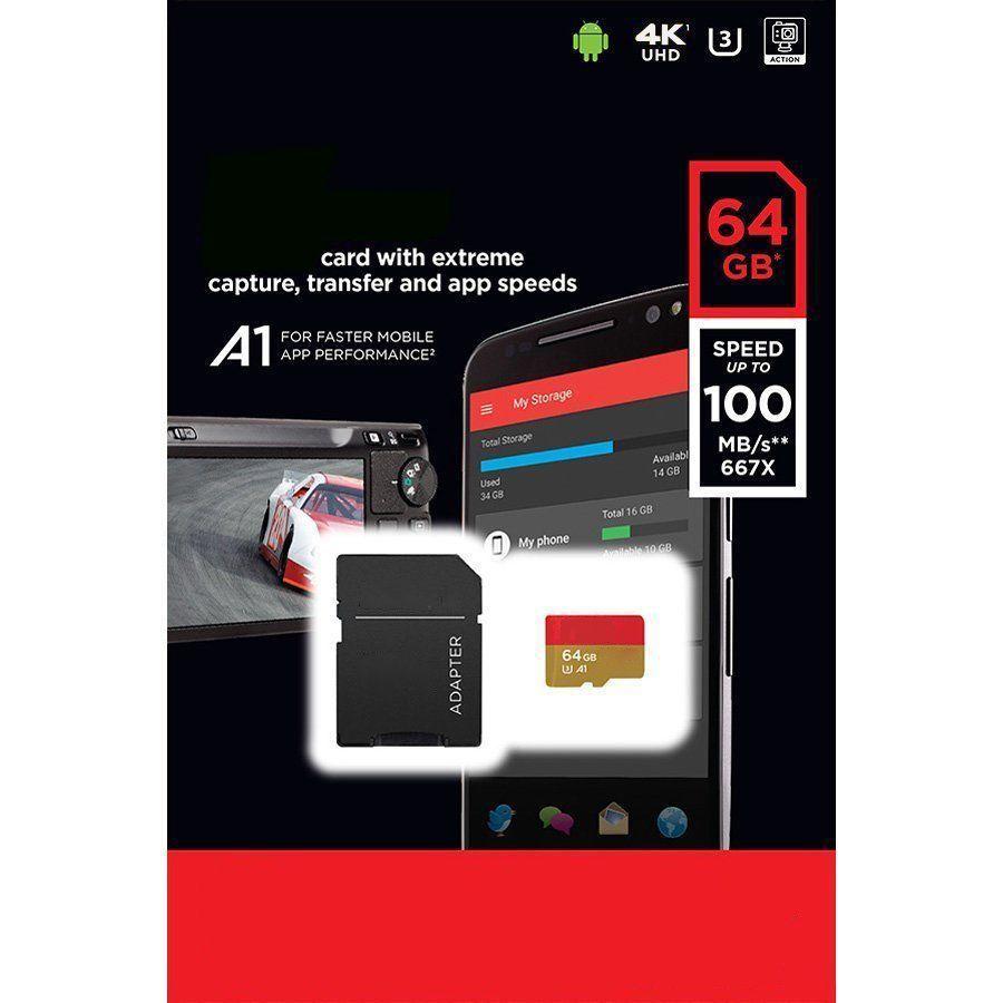 Extreme A1 128GB 64GB 32GB Trans Flash TF Card 100MB/s UHS-1 U3 V30 A1 Class 10 Card 4K