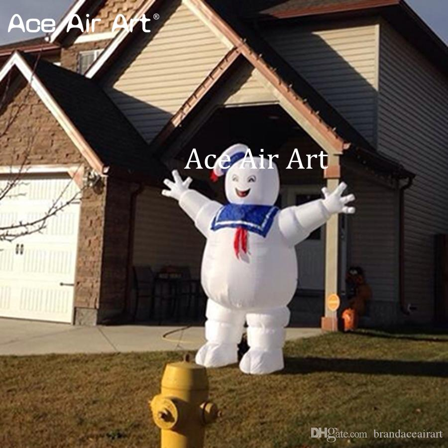 2019 Giant Inflatable Halloween Decoration Blow Up Marshmallow Man Inflatable Ghost Buster Stay Puft Cotton Candy From Brandaceairart Price