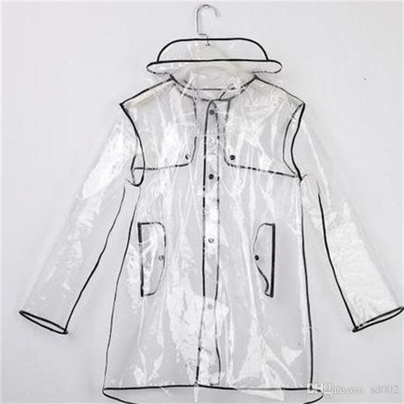 방수 맑은 우비 남자를위한 여성 조수 야외 여행 비 재킷 고품질의 작은 편차 쉽게 운반 할 수있는 25LR2 CC