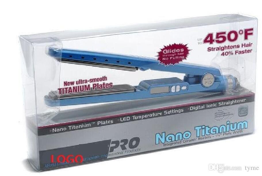 2016 جديد! برو na-no! التيتانيوم 1 1/4 لوحة مسطحة الحديد الأيونية مستقيم الشعر
