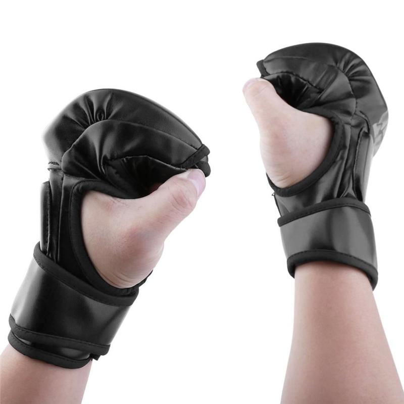 Fitness Supplies MMA Fight Boxing Half Finger Glove MMA Sparring Gloves Fight Sandbags Professional Wrestling Fighting Fitness Gear