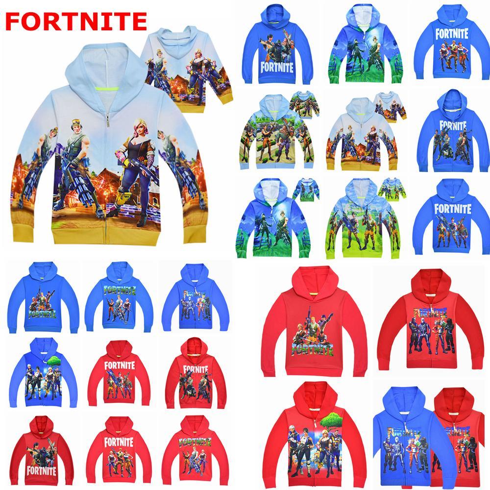 Game Fortnite Battle Royal Jackets Kids Boy Girl Zipper