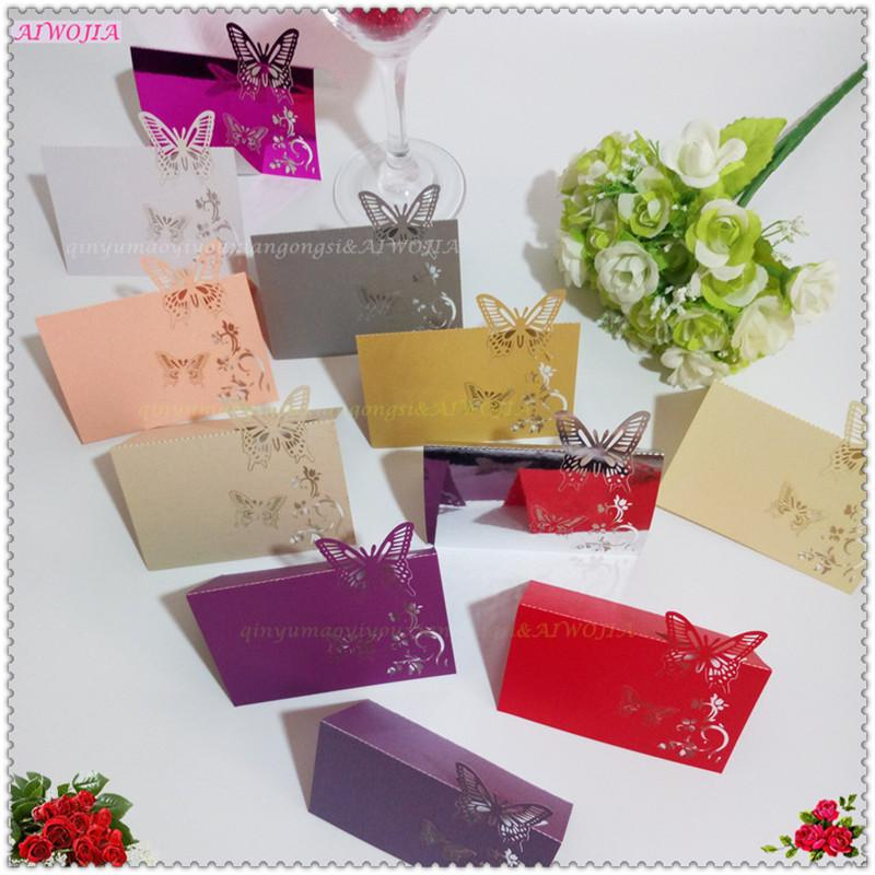 10Pcs Butterfly Place Cards Hollow Place Table name Cards Wedding Decor Laser Cut paper card 5Zsh075