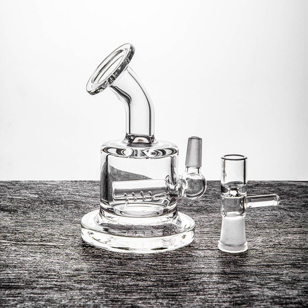 Piccolo Bong Percolators Mini Dab Rig Tubi per l'acqua in vetro colorato economici tubi Bubbler 3 pollici e 10 mm comune