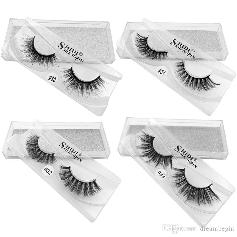 MINK Eyelashes 7 styles Selling 1pair/lot 100% Real Siberian 3D Full Strip False Eyelash Long Individual Eyelashes Lashes Extension