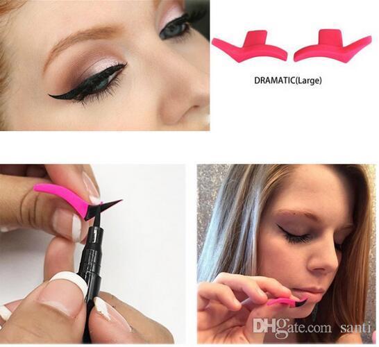Hot Beauty Health Eyeliner Mould Wings Sellos de sello Fácil de usar Ojos Wing Liquid Eye Liner Herramientas Maquiagem Beauty Portable Cosmetic Delinea
