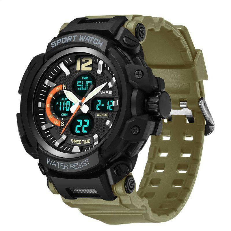 3 цвета Мужские спортивные аналоговые цифровые часы - мода водонепроницаемый наручные часы мужские военные часы дизайнер часы с розничной коробке