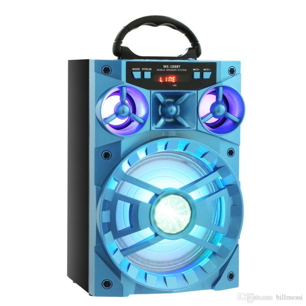 وحدة VOBERRY متعددة الوظائف بتقنية البلوتوث ذات محرك أقراص كبير مزودة بسماعة خلفية ملونة مشغل موسيقى مع USB / TF / AUX / FM سماعات بلوتوث كبيرة