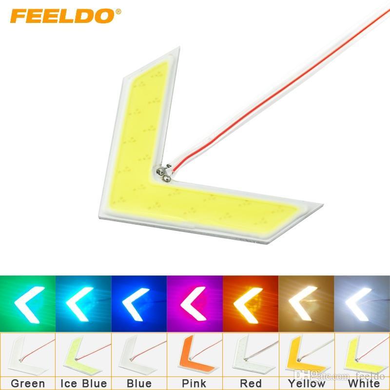 FEELDO 20 ШТ. Авто COB 18SMD 18LED Стрелки Лампа Индикатор Безопасные светодиодные панели Автомобиль боковое зеркало Указатель поворота 7-цветный # 1437
