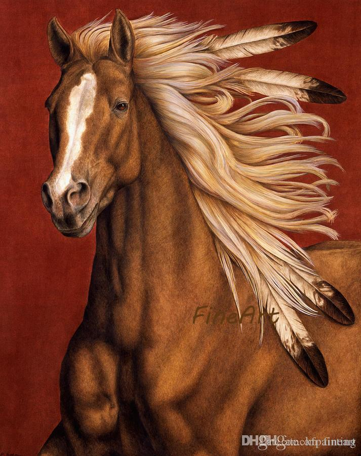 handmade canvas horse canvas painting animal wall decor art oil painting discount wall painting ideas home