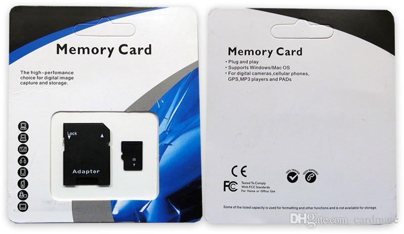 DHL 100MB / S BLUE GENIC 256GB 128GB 64GBクラス10 TFフラッシュメモリカードC10 SDアダプタブリスターの小売パッケージ1日の発送無料